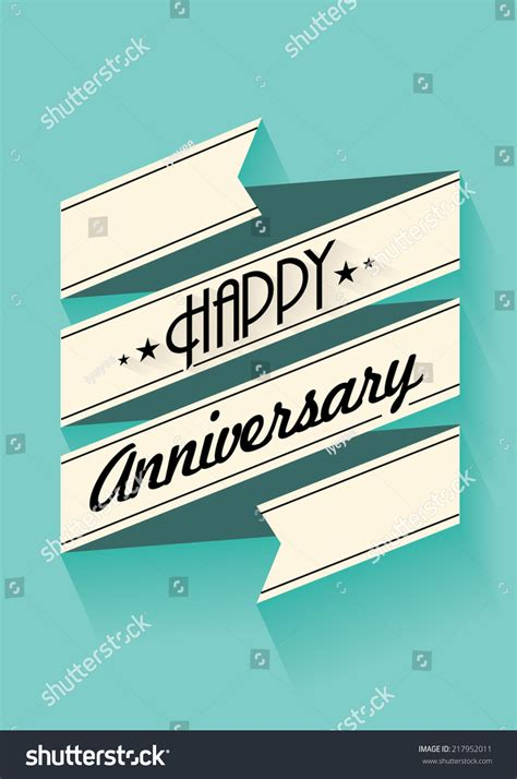 Happy Anniversary Banner Template Vectorillustration Stock Vector 217952011 Shutterstock Happy Anniversary Banner Template