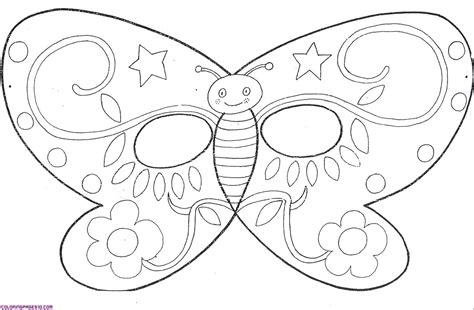 Butterfly Mask Template free coloring pages of butterfly mask
