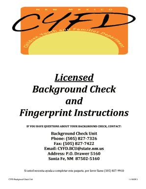 Cyfd Background Check Cyfd Background Check Nm Fill Printable