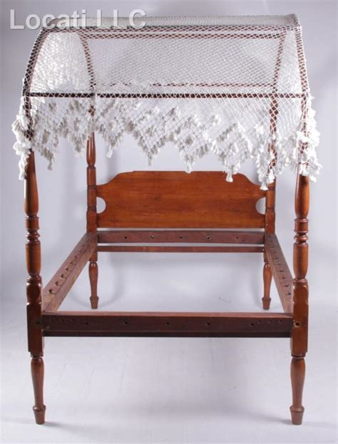 An American Cherry Canopy Bed 19th Century American Canopy Bed