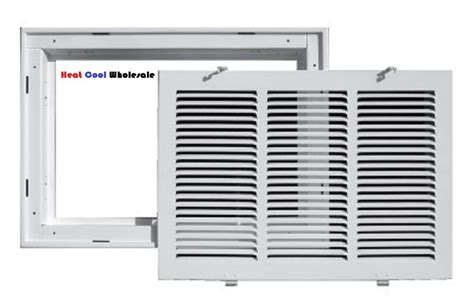 truaire 25 quot x 20 quot white return air filter grille 190rf ebay