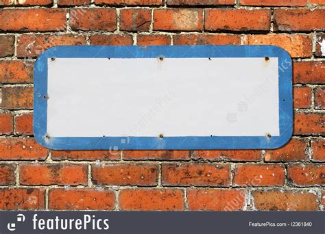 Old Blank Sign On A Red Brick Wall. Image Go Sign Clip Art