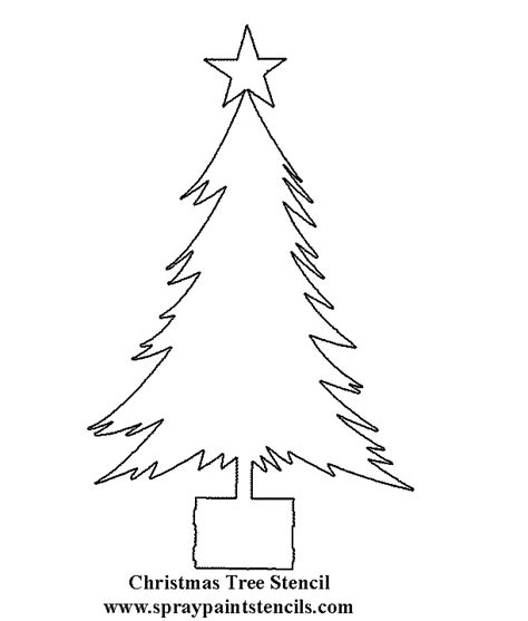 christmas tree stencil printable crafts coloring book pages