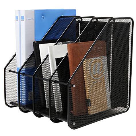 Heavy Duty 4 Compartment Black Metal Mesh Office Desktop Desk Top File Organizer