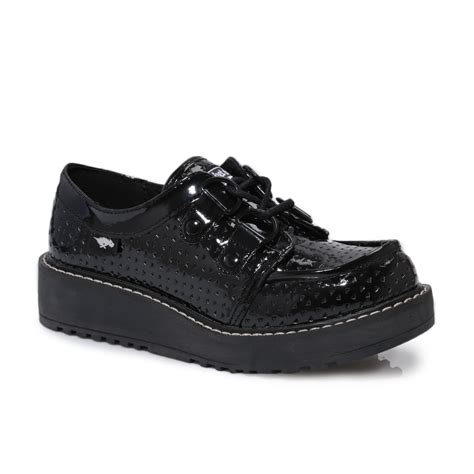 brogan shoes rocket brogan patent leather womens black creepers
