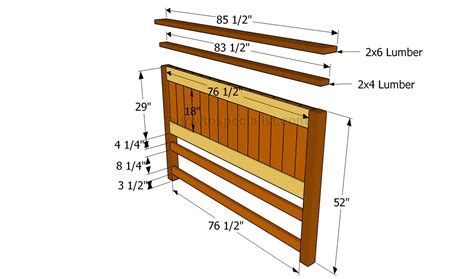 Building A Headboard How To Build Headboard Plans To Build Pdf Plans