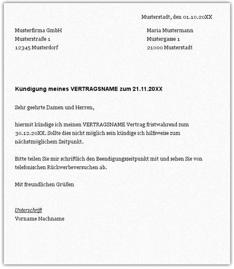 Muster Dienstvertrag Schweiz K 252 Ndigungsschreiben Muster Arbeitnehmer Yournjwebmaster