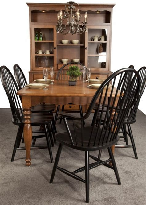 amish manchester solid cherry table set dining tables