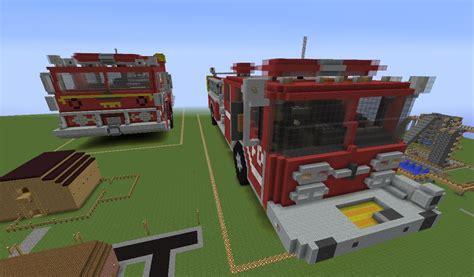 minecraft fire truck minecraft fire engine youtube