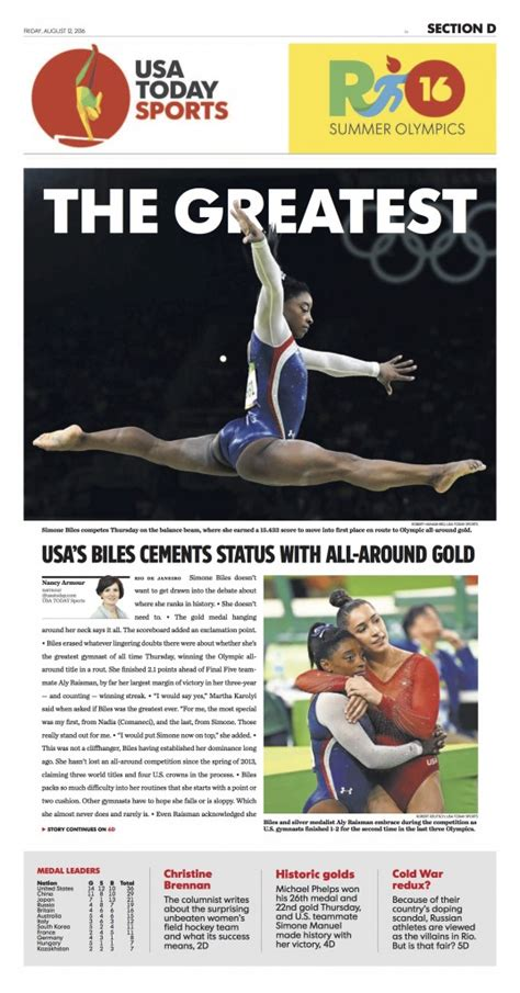 usa today sports section rio 2016 blog behind the camera if you re on time you