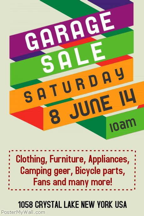 garage sale flyer template garage sale flyer templates postermywall
