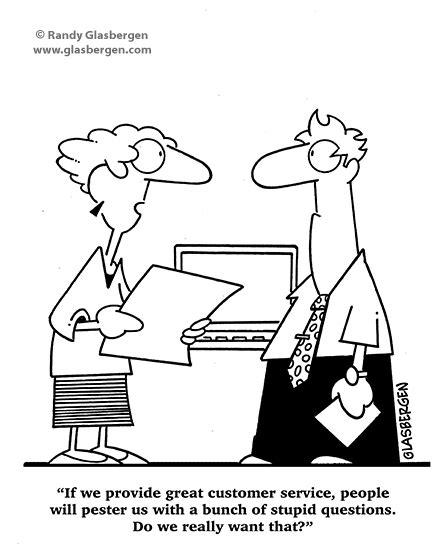 customer service call center randy glasbergen