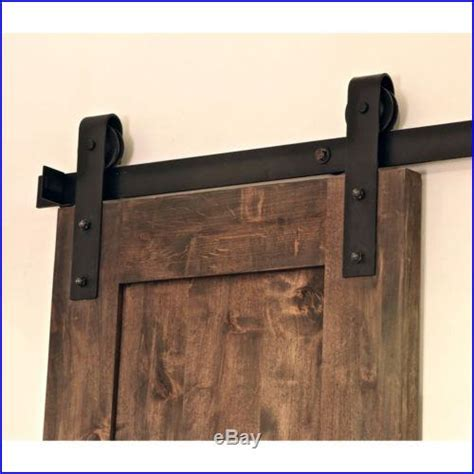 Barn Door Slide Hardware 6 Ft Classic Rustic Black Sliding Barn Door Hardware Kit Smooth Rolling Tsq03