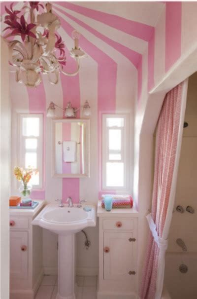 Shower Curtains For Kids Bathrooms - 12 pink stripe bathroom bellini buzz