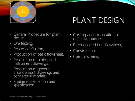 plant layout meaning and definition mineral processing plant design and optimisation