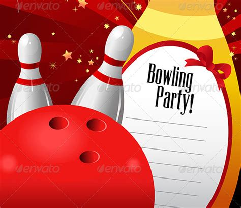 24 outstanding bowling invitation templates designs