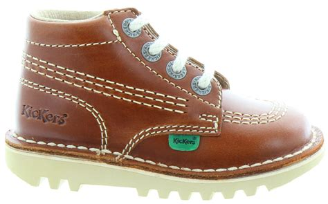 Kickers Pantofel Lather Original 02 kickers leather kick hi boots in in