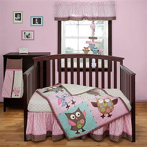 bananafish 174 calico owls 3 piece crib bedding set buybuy baby