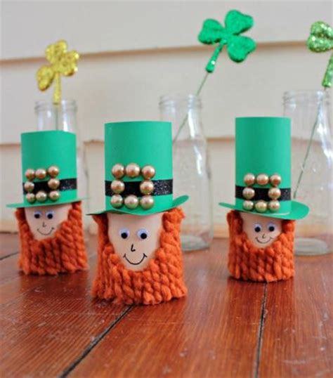 toilet paper roll leprechaun craft allfreekidscrafts