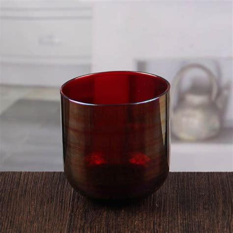 4 Inch Candle Holders Wholesale High Quality Marroon Glass Candle Holder 4 Inch