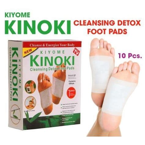 The Cleansing Detox Foot Pads by Kinoki Detox Foot Patches With 10 Pads Adhesive