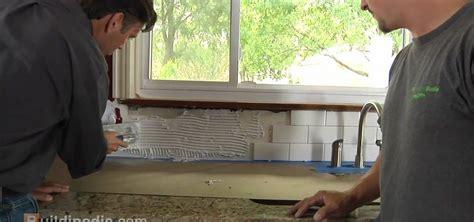 Installing Ceramic Tile How To Install A Ceramic Tile Backsplash 171 Construction Repair Wonderhowto