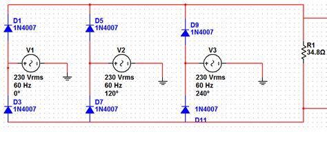diode 1n4007 pspice diode 1n4007 pspice 28 images wave bridge rectifier circuit multisim simulation speaking