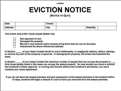 Eviction Notice Template Template Business Free Eviction Notice Template Florida