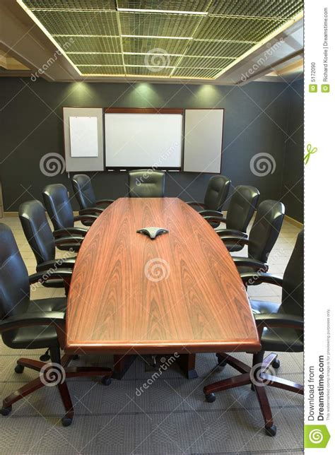 Whiteboard Conference Table Conference Table W Blank Whiteboard Vertical Stock Photo Image 5172090