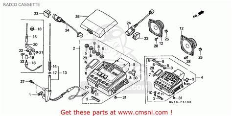 Honda Gl1500 Goldwing 1988 J Spain Kph Radio Cassette