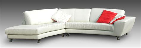 modern sofa chrome legs white leather modern sectional sofa w chrome metal legs