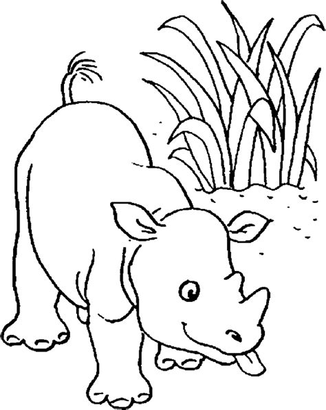 Baby Rhino Coloring Page | baby book pages printable coloring home