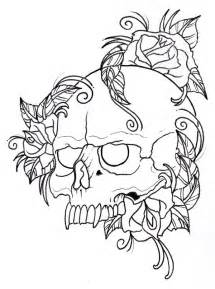 Where Can You Buy Mexican Candy Skull And Roses Outline By Vikingtattoo On Deviantart