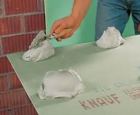 ansetzbinder knauf gipskartonplatten kleben statt verputzen bauen de