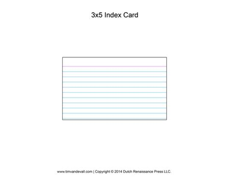 3 5 Index Card Template by Printable Index Card Templates 3x5 And 4x6 Blank Pdfs