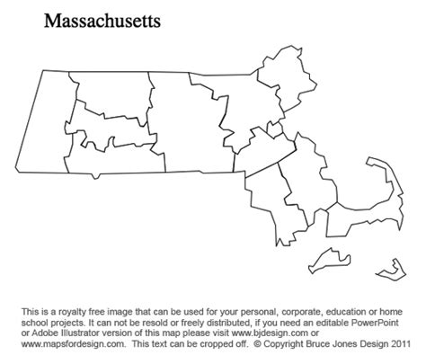 printable map massachusetts massachusetts to new jersey us county maps