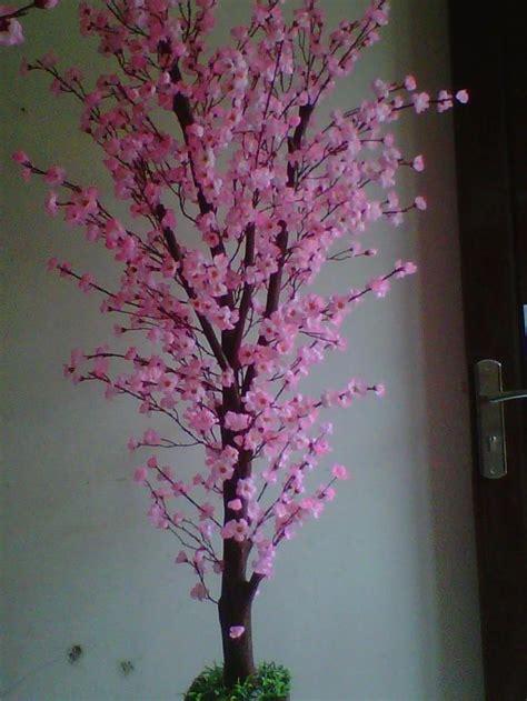 1 Set Isi 3 Bunga Plastik Hias Artificial Mawar Pot Gantung Hijau jual pohon tiruan harga murah malang oleh pt bunga