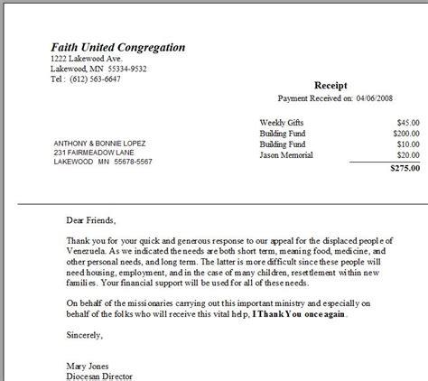 Nonprofit Acknowledgement Letter charitable donation letter non profit search results