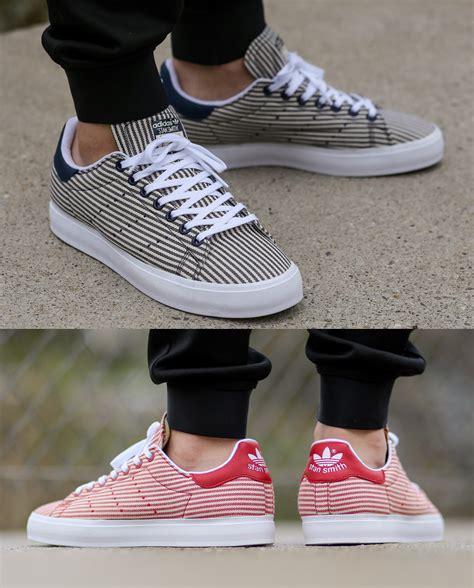 Casual Adidas Smith Brown new adidas stan smith vulc pin stripe designer casual