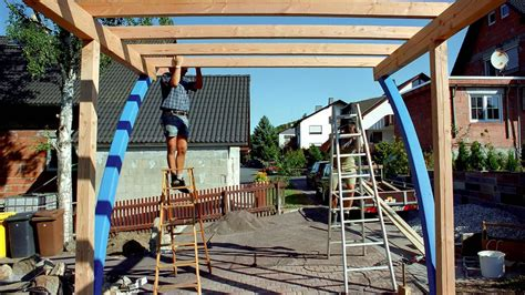 carport bauen holz carport selber bauen