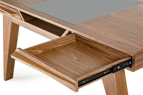 walnut home office desk furniture los angeles california