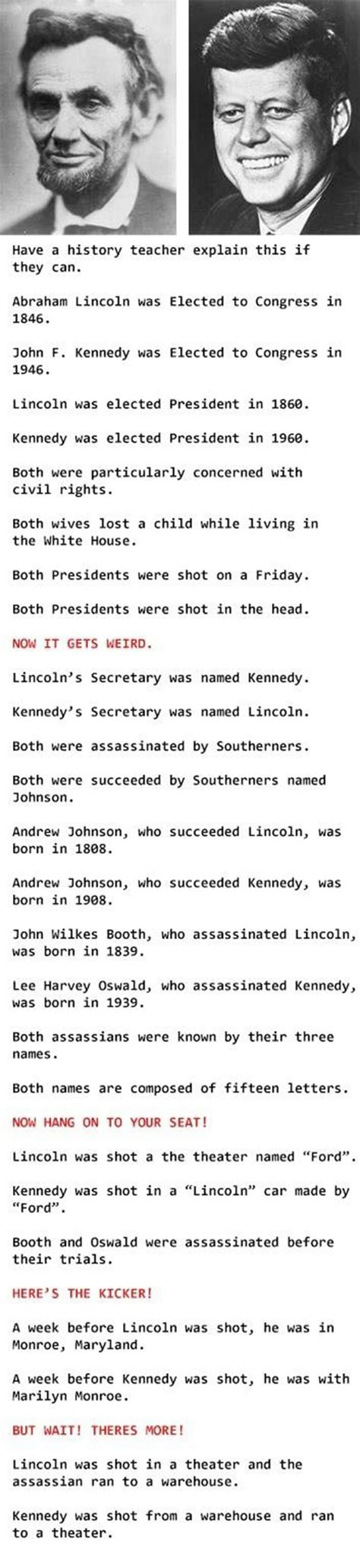 kennedy lincoln assassination lincoln and kennedy the list of strange coincidences