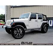 Jeep Wrangler With 22in Fuel Throttle Wheels Exclusively