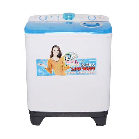 Mesin Cuci Sanken 150 Watt jual sanken tw 9880 mesin cuci 2 tabung kapasitas 7 5kg