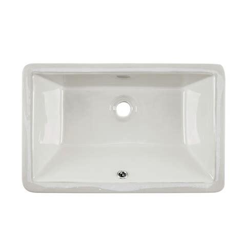 ipt sink company rectangular glazed ceramic undermount
