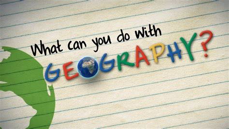 What Can You Do what can you do with geography
