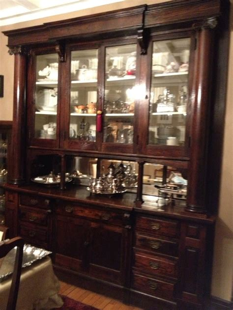 Build China Cabinet by Built In China Hutch X2 Bar Ideas