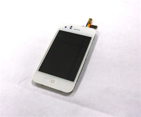 Lcd Iphone 3 Gs A1303 Ori100 iphone 3gs bianco lcd display touch screen frame a1303