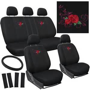 Embroidered Car Seat Covers Uk 17pc Flower Car Seat Cover Embroidered Mesh