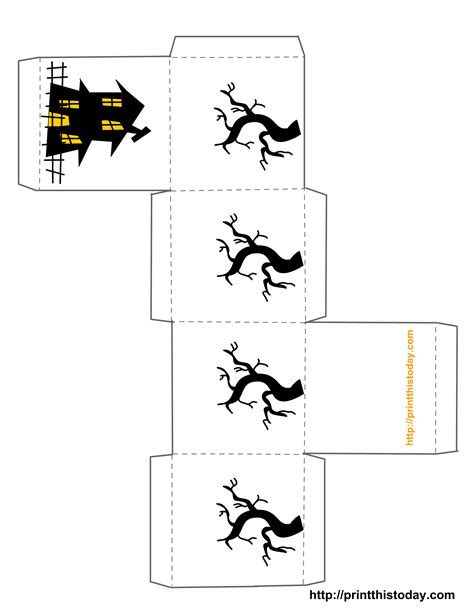 printable templates for halloween free printable halloween treat boxes templates